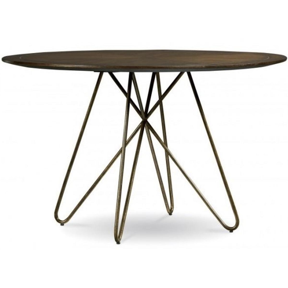 Neo 100277e Round Wooden Table With Wrought Iron Legs Neo Horeca Furniture