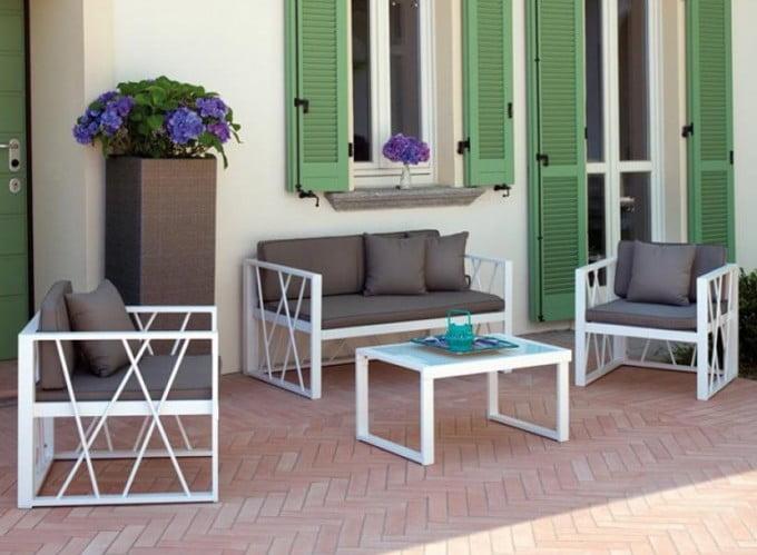 Garden Metal Sofa Set Stylish, Iron Sofa Set Designs