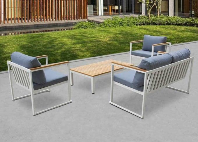 Outdoor Metal Sofa Set For Cafe, Iron Sofa Set Designs