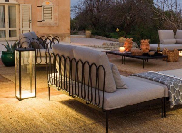 Hotel Outdoor Wrought Iron Sofa Set, Wrought Iron Sofa Set Designs