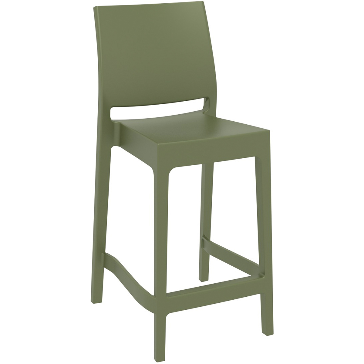 NEO-9E Stackable Plastic Outdoor Bar Stool Bar Chair