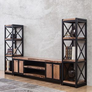 NEO-300670E-Metal-and-Wood-Media-Console-With-Two-Towers-2