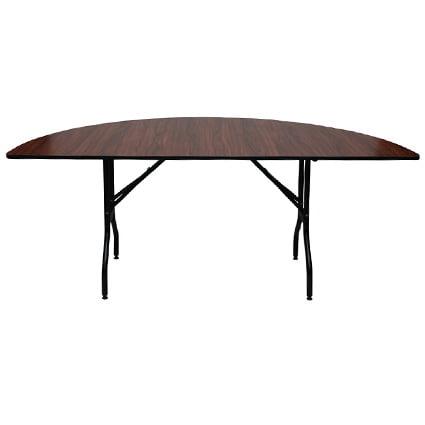 Neo 800202e Half Round Wood Folding, Round Banquet Table