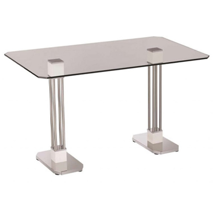Neo 150064e Rectangular Dining Table With Glass Top Neo Horeca Furniture