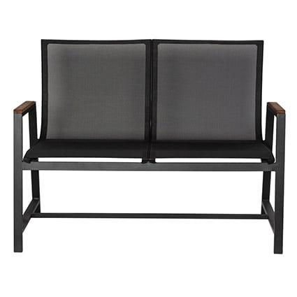 Neo 750004e Aluminum Mesh Fabric Outdoor Patio Loveseat Bench Neo Horeca Furniture