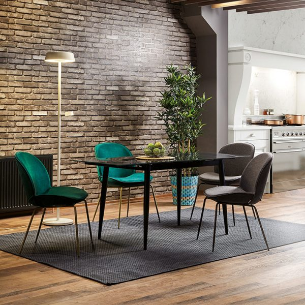 NEO-250171E Beetle Chair Gubi Chair Upholstered Replica